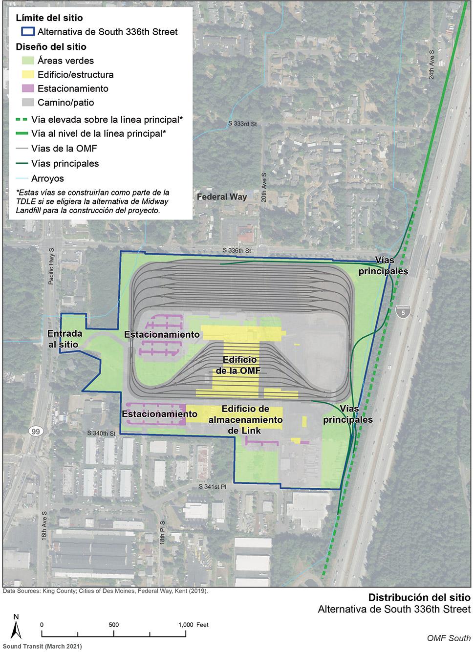 Mapa del sitio de la alternativa de South 336th Street